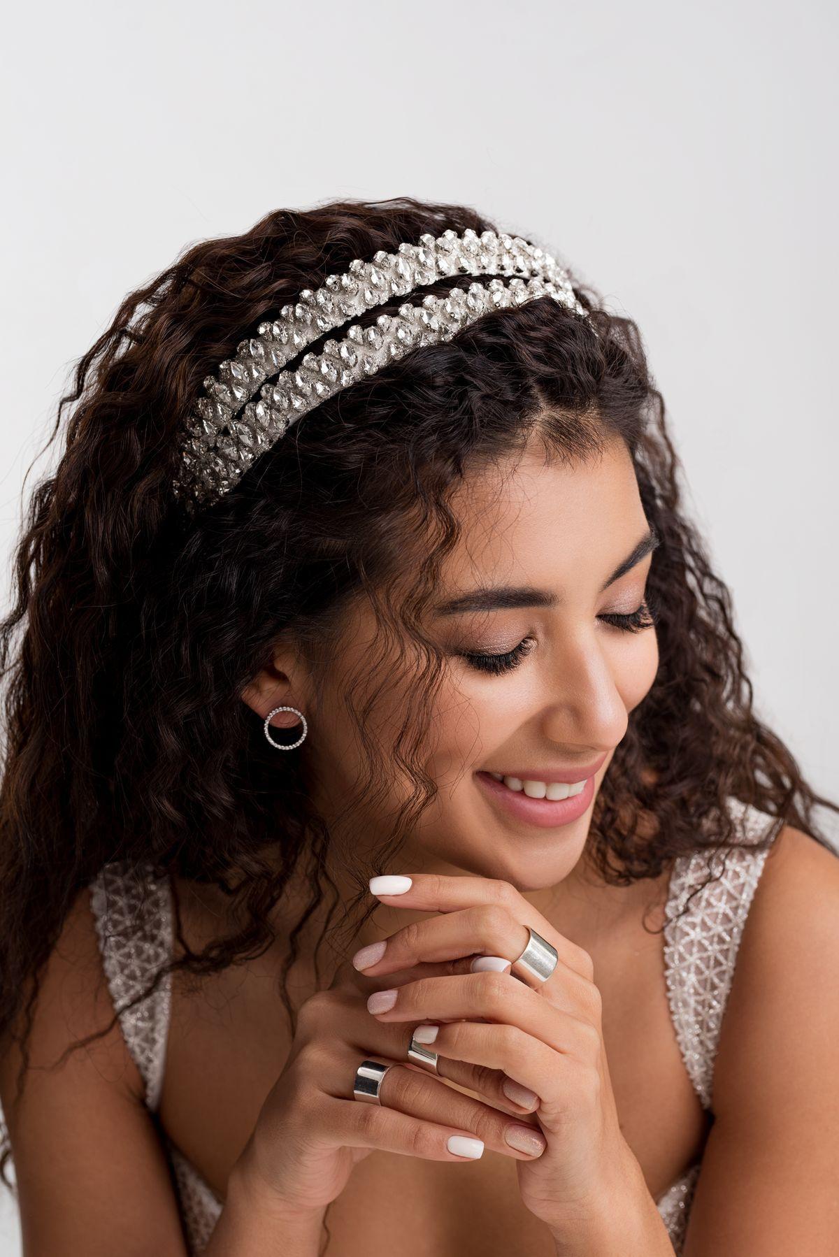 wedding headbands with rhinestones
