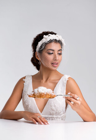 wedding veil with headband