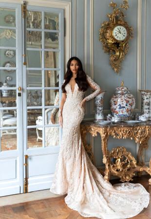 Mermaid Long Sleeve Wedding Dress