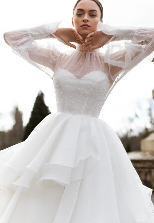 Long Sleeves Boho Wedding Dress
