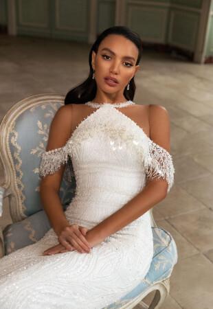 Свадебные платья «Американка» (за шею)