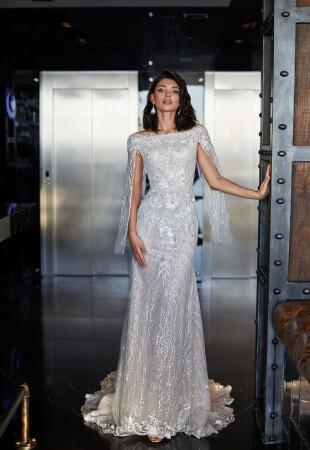 Свадебные платья с вырезом «Лодочка»