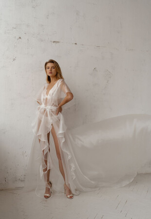 bride bridesmaid robes, marriage night dress, honeymoon outfit