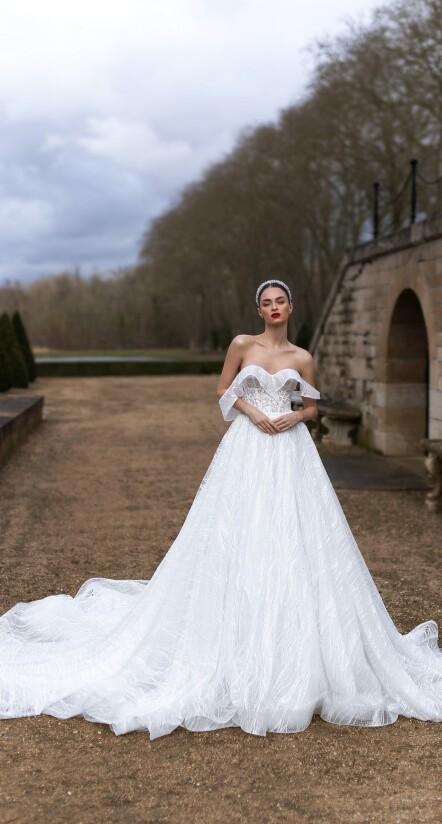 wedding dresses with cap sleeves, princess wedding dress, bohemian dresses wedding