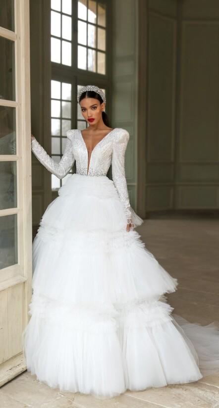wedding dresses aline, wedding dresses with long sleeves,