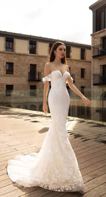 wedding dresses mermaid, wedding dresses long train, designer wedding dress