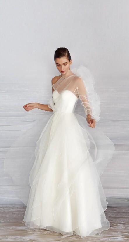 aline wedding dress, long sleeved dresses for wedding, wedding dress flowy