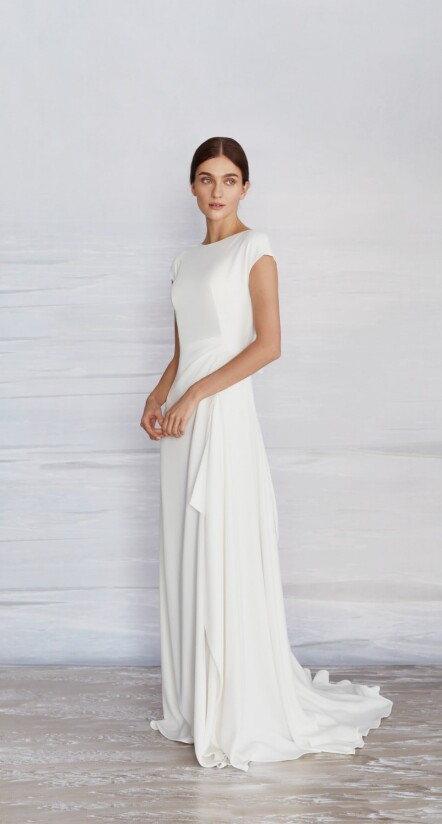 wedding dresses with cap sleeves, wedding dress for reception, semi formal dresses weddings
