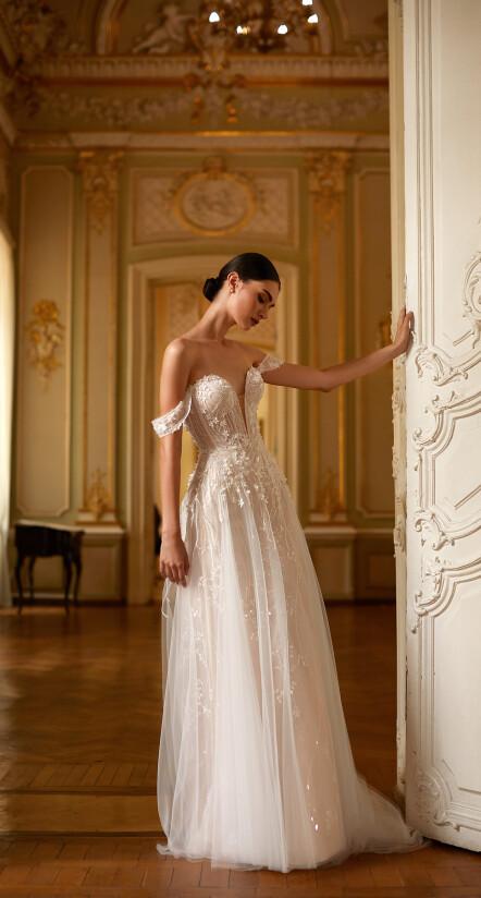 свадебное платье пышное, свадебное платье а силуэт