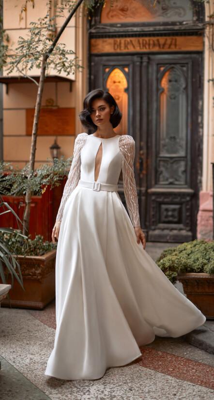 платье свадебное, свадебное платье из атласа