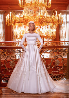 satin long sleeve wedding dress, embroidery wedding dresses, weddings dresses with sleeves