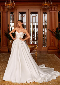 wedding dresses aline, off the shoulder wedding dress, wedding dresses with long trains