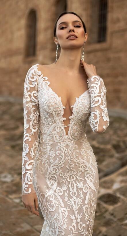 lace wedding dress mermaid, lace wedding dress ivory, dress for summer wedding
