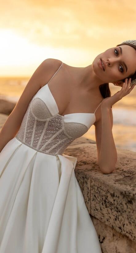 wedding dresses with spaghetti straps, puffy wedding dresses, princess wedding dress