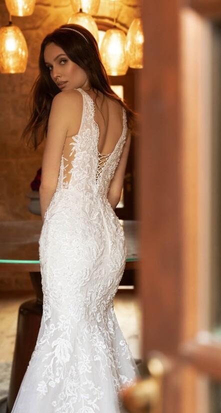 wedding dress with low back,, wedding lace dresses, princess wedding dress