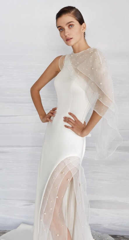 wedding dress with slit, wedding dresses beach style, wedding dress with cape
