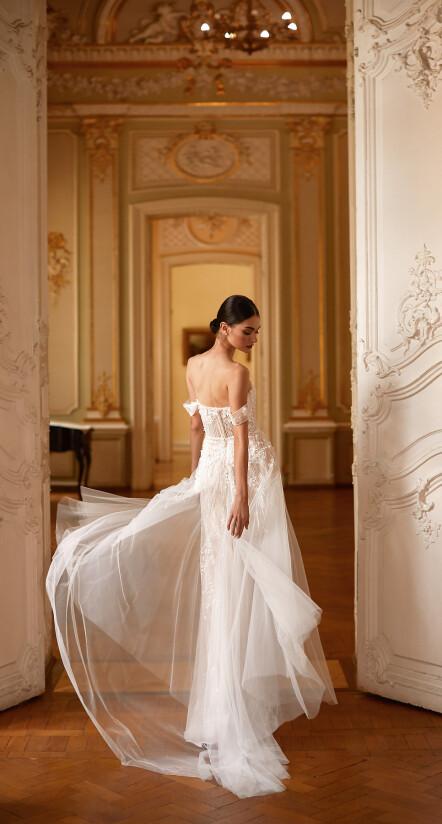 свадебное платье с открытой спиной, платье свадебное с рукавами
