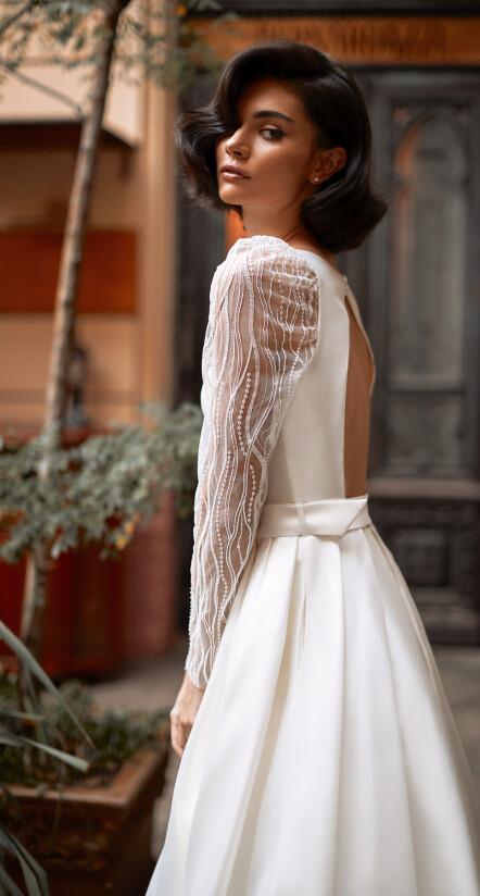 свадебное платье с открытой спиной, платье свадебное фото
