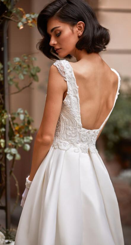 свадебное платье с открытой спиной, цвет айвори платье свадебное